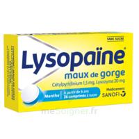 LYSOPAÏNE Comprimés à sucer maux de gorge sans sucre 2T/18 à Mérignac
