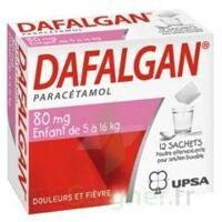 DAFALGAN 80 mg Poudre effervescente pour solution buvable B/12 à Mérignac