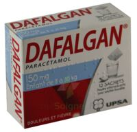DAFALGAN 150 mg Poudre effervescente pour solution buvable B/12 à Mérignac