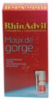 RHINADVIL MAUX DE GORGE TIXOCORTOL/CHLORHEXIDINE, suspension pour pulvérisation buccale à Mérignac