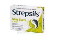 STREPSILS CITRON SANS SUCRE, pastille édulcorée à l'isomalt, au maltitol et à la saccharine sodique à Mérignac