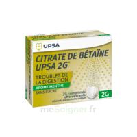 Citrate de Bétaïne UPSA 2 g Comprimés effervescents sans sucre menthe édulcoré à la saccharine sodique T/20 à Mérignac