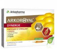 Arkoroyal Dynergie Ginseng Gelée royale Propolis Solution buvable 20 Ampoules/10ml à Mérignac