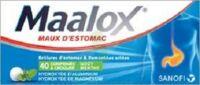 MAALOX HYDROXYDE D'ALUMINIUM/HYDROXYDE DE MAGNESIUM 400 mg/400 mg Cpr à croquer maux d'estomac Plq/40 à Mérignac