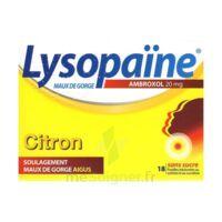 LYSOPAÏNE AMBROXOL 20 mg Pastilles maux de gorge sans sucre citron Plq/18 à Mérignac