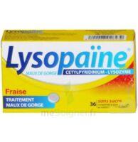 LYSOPAÏNE Comprimés à sucer maux de gorge fraise sans sucre 2T/18 à Mérignac