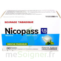 Nicopass 1,5 mg Pastille sans sucre menthe fraîcheur Plq/96 à Mérignac