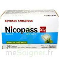Nicopass 2,5 mg Pastille menthe fraîcheur sans sucre Plq/96 à Mérignac