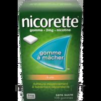 Nicorette 2 mg Gomme à mâcher médicamenteuse sans sucre fruits Plq/30 à Mérignac