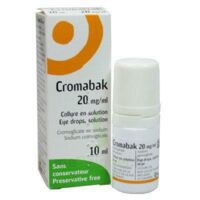 CROMABAK 20 mg/ml, collyre en solution à Mérignac