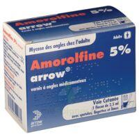 AMOROLFINE ARROW 5 % V ongles médicamenteux 1Fl/2,5ml+30spat à Mérignac