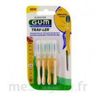 Gum Trav - Ler, 1,3 Mm, Manche Jaune , Blister 4