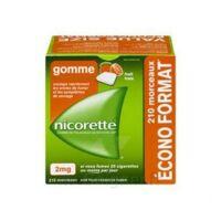 Nicorette 2 mg Gomme à mâcher médicamenteuse sans sucre fruits Plq/210 à Mérignac