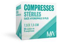 Marque Conseil Compresse stérile gaze hydrophile 7,5x7,5cm 50 Sachets/2 à Mérignac