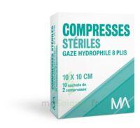 Marque Conseil Compresse Stérile Gaze Hydrophile 10x10cm 10 Sachets/2 à Mérignac