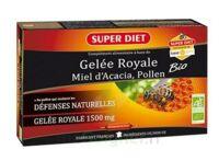 Superdiet Gelée Royale Miel Pollen Bio Solution Buvable 20 Ampoules/15ml