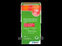 CHLORHEXIDINE/CHLOROBUTANOL MYLAN 0,5 ml/0,5 g pour 100 ml, solution pour bain de bouche en flacon à Mérignac
