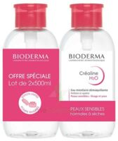 CREALINE H2O Solution micellaire nettoyante apaisante sans parfum 2Fl pompe inversée/500ml à Mérignac